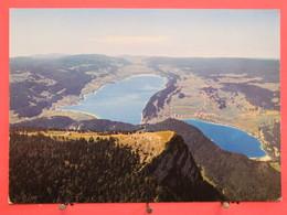 Visuel Très Peu Courant - Suisse - Sommet De La Dent De Vaulion - Lacs De Joux Et Brenet - Scans Recto Verso - VD Vaud