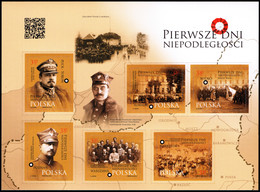 Poland 2019 Fi BLOK 344 Mi 5173-5178 First Days Of Independence - Nuevos