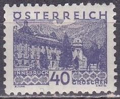 Osterreich / Austria 1932 Frühere Hofburg In Innsbruck 40 G Blauviolet Mi 539 Mit Falz - 1918-1945 1ste Republiek