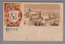 CH GR Chur Bischofsresidenz 1902-11-03 Litho Künzli #4541 - GR Grisons