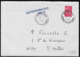 Marcophilie - 1 Enveloppe Avec Griffe Linéaire  Relais Poste De Clisson Les Halles 444110 - Loire Atlantique - 44 - Postmark Collection (Covers)