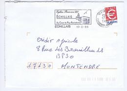 CHARENTE-MARITIME - Flamme Illustrée à Gauche ECHILLAIS Du 17 -8  1999 - Marcophilie (Lettres)
