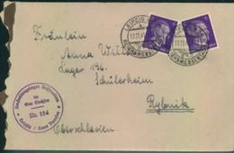 """1941, Brief M. Absenderstempel """"Umsiedlungslager Bessarabien Nr. 154"""" Ins Lager 196 In Rybnik - Deutschland"""