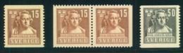 1940, Sergel, Complete Issue With Pair - Mi-Nr. 279/280 (60,-) - Sin Clasificación