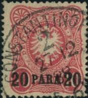 "1888, ""20 PARA"" Auf 10 Pfg. ""CONSTANTINOPEL 2"" - Ufficio: Turchia"
