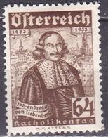 Osterreich / Austria 1933 Wohlfahrt Joh. Andreas Von Liebenberg 64 + 64 G Mi 562 Mit Falz - 1918-1945 1ste Republiek