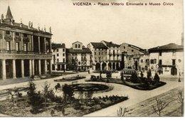 VICENZA - Piazza Vittorio Emanuele E Museo Civico, Tram, Ed. Giuseppe Buso Vicenza - Vicenza