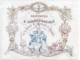 Leuven: Porseleinkaart 20,5 X 15,5 Cm - Cartes Porcelaine