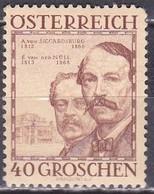 Osterreich / Austria 1934 Wohlfahrt Berühmte Baumeister 40 + 40 G Mi 594 Falzlos - 1918-1945 1ste Republiek