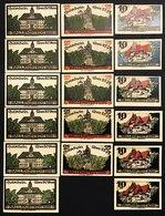GERMANIA ALEMANIA GERMANY Notgeld Ballenstedt, 10 25  50 Pfennig 1921 ( 17 Pz )  Lotto 2526 - [ 3] 1918-1933 : República De Weimar