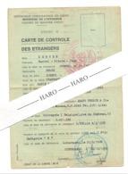 République Démocratique Du Congo - Carte De Contrôle Des Etrangers - Visa, Passeport ,, LUBUMBASHI 1968 (b270) - Documents Historiques
