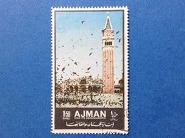 1972 AJMAN EDIFICI STORICI TURISMO 1.50 R FRANCOBOLLO USATO STAMP USED - Ajman