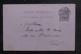 SÉNÉGAL - Entier Postal Type Alphée Dubois De St Louis Pour Paris En 1893, Cachet De Ligne Maritime Au Verso - L 48371 - Cartas