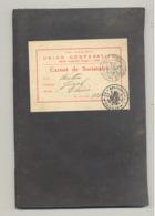 UNION COOPERATIVE - LIEGE 1930 - Carnet De Sociétaire , Cachet, Marcophilie,..Parti Ouvrier Belge. (b270) - Documents Historiques