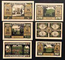 GERMANIA ALEMANIA GERMANY Notgeld Ballenstedt 25 30 50  75 100 Pfennig 1921 ( 6 Pz ) Lotto 1932 - [ 3] 1918-1933 : República De Weimar