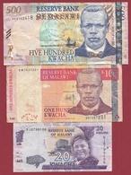 Malawi 3 Billets Dans L 'état Lot N °2 (71) - Malawi