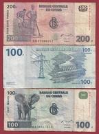 Congo  3 Billets Dans L 'état  (75) - Kongo