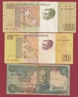 Angola  3 Billets Dans L 'état  Lot N °1 (76) - Angola