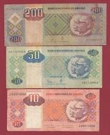 Angola  3 Billets Dans L 'état  Lot N °2 (77) - Angola