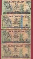 Ouganda  4 Billets Dans L 'état  Lot N °2 (79) - Ouganda