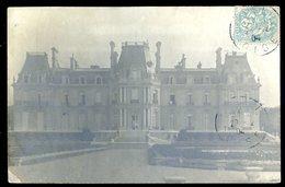 Cpa Carte Photo  Château à Identifier Dans L' Oise -- Photographe Dubosq Chantilly  LZ94 - Ancenis