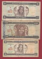 Erythrée  3 Billets Dans L 'état (82) - Eritrea