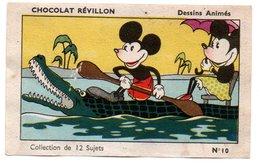 Chromo Chocolat Révillon. Dessins D'après Walt Disney. Mickey Et Minnie En Canoë Sur Le Nil. - Revillon
