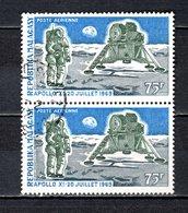 MADAGASCAR   PA  N° 112  EN PAIRE  OBLITERES   COTE 1.20€    ESPACE APOLLO XI - Madagascar (1960-...)
