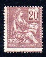 FRANCE   -  N° 113-  N+ - - 1900-02 Mouchon