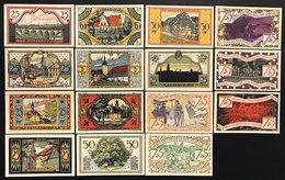 GERMANIA ALEMANIA GERMANY Notgeld Zeulenroda 25 50 75  Pfennig 1921 ( 15 Pz ) Lotto 1950 - [ 3] 1918-1933 : República De Weimar