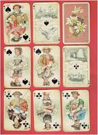 ANCIEN JEU SUISSE DE CARTES A JOUER FIN XIXe DEBUT XXe 52 CARTES ET 1 JOKER - 54 Cartes