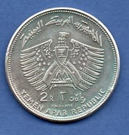 Yemen -  2 Riyals 1969   - Km # 3.1 -  état  TTB+  -  2 Coups Tranche - Jemen