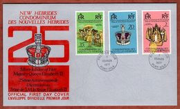 FDC, Silberjubilaeum Queen, Port-Vila 1977 (82654) - FDC
