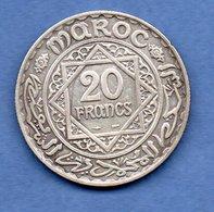 Maroc -  20 Francs 1933   - Km # 39 -  état  TTB - Morocco