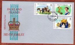 FDC, Silberjubilaeum Queen, Port Stanley 1977 (82656) - Falklandinseln
