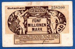 Bayern -  5 Millionen Mark   - état  TB - [11] Lokale Uitgaven