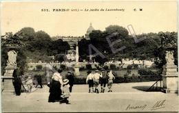 Paris (75) - Le Jardin Du Luxembourg (Circulé En 1917) - Parcs, Jardins