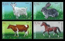 Moldova 2019 Mih. 1105/08 Fauna. Domestic Animals. Goat. Rabbit. Cow. Horse MNH ** - Moldova