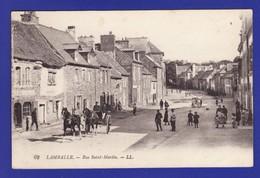 LAMBALLE Rue Saint Martin Animée Attelage (TRES TRES LEGERE TACHE EN H SINON Très Très Bon état ) Zz135 - Lamballe