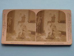 """ I've Had My Bath, Now It's Your Turn - He Tomado Mi Bano ..... "" ( Copyright Strohmeyer & Wyman ) Stereo Photo ! - Stereoscopic"