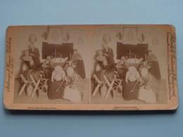 """"""" Mickie O'Hoolihan's Wake - Elvelorio De Mickie... """" ( Copyright Strohmeyer & Wyman ) Stereo Photo ! - Stereoscopic"""