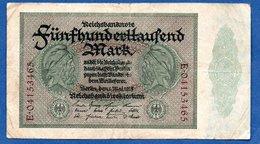 Allemagne -  500 000 Mark  1 Mai 1923  - état  TB - [ 3] 1918-1933 : República De Weimar