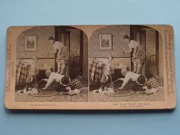 "504 B "" That "" Pesky "" Rat Again - A Caza De Un Raton "" ( Littleton / Underwood ) Stereo Photo ! - Stereoscopic"