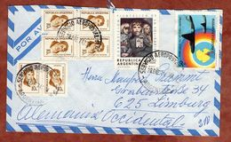 Luftpost, Briefmarken-Ausstellung Solidaritaet U.a., Buenos Aires Nach Limburg 1974 (82661) - Argentina