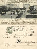 Romania, BRǍILA, Piata Sft. Arhanghel, Tram (1908) Due To Stamp, Postcard - Romania
