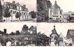 91 - MONTGERON Multivues - Mairie , Bords De L'Yerre , Moulin De Senlis - CPSM Dentelée Noir Blanc Format CPA - Essonne - Montgeron