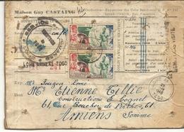 ENVOI DE COLIS EN RECOMMANDE - Togo (1914-1960)