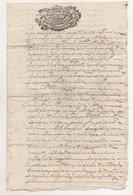 Savoie  Montvalezan Sur Bellentre 1756 - Manuscripts