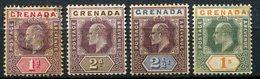 Grenade - 1902 - Yt 39 - 40 - 41 - 44 - Edouard VII - Obllitérés Ou * TC - Grenada (...-1974)