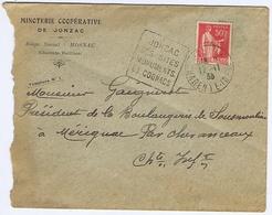 CHARENTE-MARITIME - Flamme Daguin JONZAC Du 17 -11  33 - Marcophilie (Lettres)
